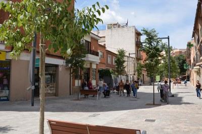 Las obras en la calle Magí Raméntol están prácticamente terminadas.