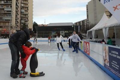 La pista de hielo ha gozado de una buena aceptación (foto: Localpres).