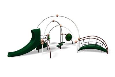 Imagen virtual del tipo de juegos combinados que se han escogido para adecuar la plaza Salvador Allende.