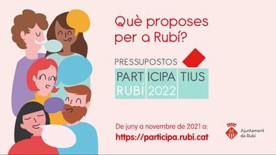 La primera fase de los Presupuestos Participativos 2022 finaliza con 118 propuestas.