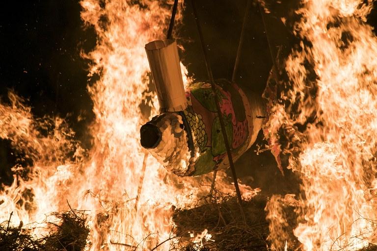 Con la quema de la sardina se da por finalizado el Carnaval (foto: Ayuntamiento – Lali Puig)
