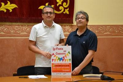 El concejal de Comercio, Rafael Güeto, con el presidente de la FACGR, Miquel Ortuño.