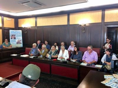 Momento de la reunión / Foto: Fórum de síndics i defensors locals - ForumSD .