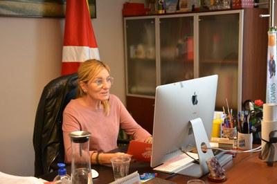 La alcaldesa ha abierto la sesión del Consejo General de la TCIR se ha reunido de manera telemática (foto: Ayuntamiento de Rubí).