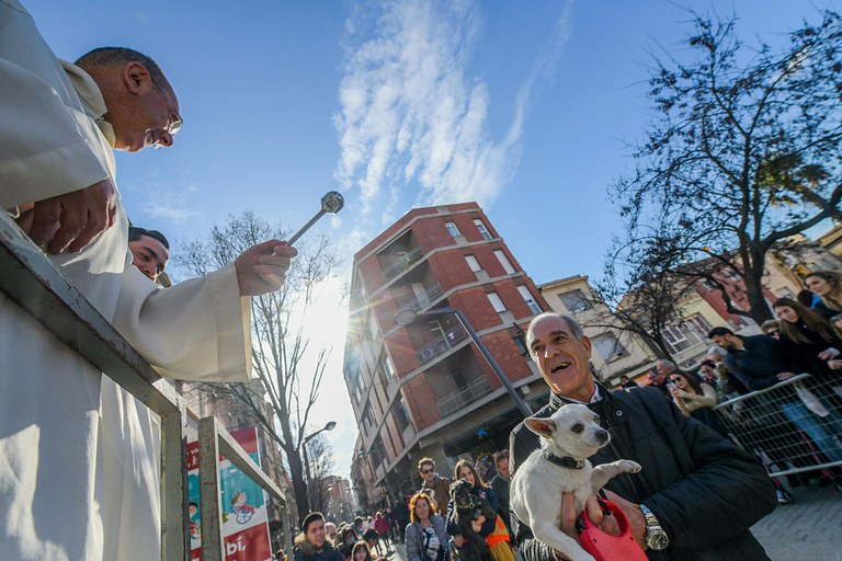 Bendición de los animales (foto: Ayuntamiento de Rubí - Localpres)