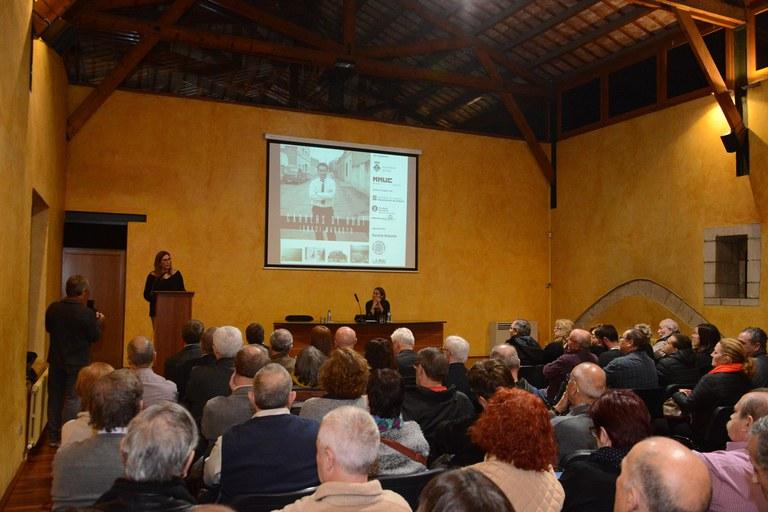 La inauguración ha contado con varios parlamentos y una conferencia sobre la figura de Marroyo (foto: Localpres)