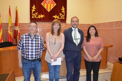 De izquierda a derecha: Eduardo Asensio, Marta García, Lluís Carreras y Sonia Revolorio.