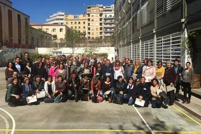 """Participantes en el programa """"Magnet"""" (foto: Fundació Jaume Bofill)."""