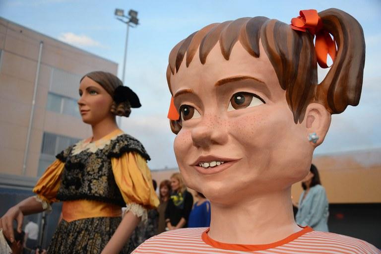 "La ""gegantona"" Matilda, en primer plano (foto: Localpres)"