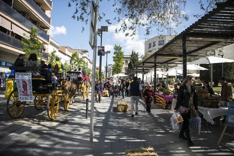 La Feria del Día de la Tierra se ha celebrado en la pl. Pearson y sus inmediaciones (foto: Ayuntamiento de Rubí - Lali Puig)