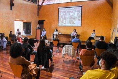 Un momento del acto que ha tenido lugar en el Castell (foto: Ayuntamiento de Rubí – Localpres).