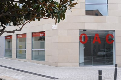La OAC permanece cerrada temporalmente (foto: Ayuntamiento de Rubí).