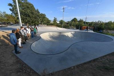 La visita de obras ha tenido lugar este martes por la tarde (foto: Ayuntamiento de Rubí - Localpres).