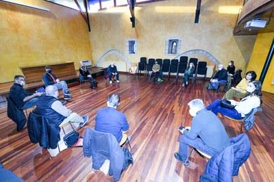 La Mesa de la Memoria Histórica se ha reunido este martes en el Castell (foto: Ayuntamiento de Rubí - Localpres).