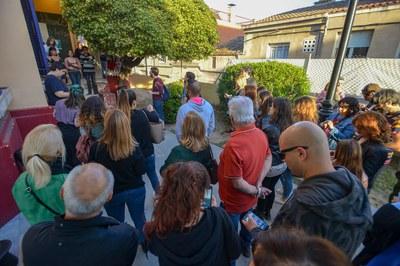 Se han hecho representaciones simultáneas en diferentes espacios de la Torre Bassas, por los que circulaba el público dividido en pequeños grupos (foto: Ayuntamiento - Localpres)
