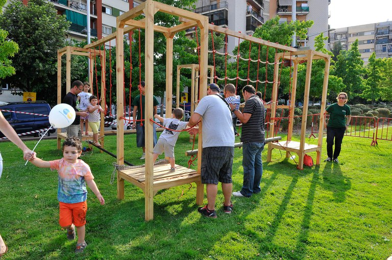 Este año se ha diseñado un circuito de habilidades apto para los más pequeños (foto: Localpres)