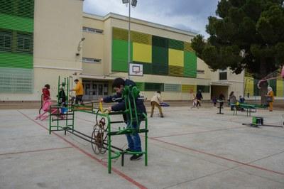 El Pau Casals fue el primer centro en abrir su patio a la ciudadanía (foto: Ayuntamiento de Rubí - Localpres).