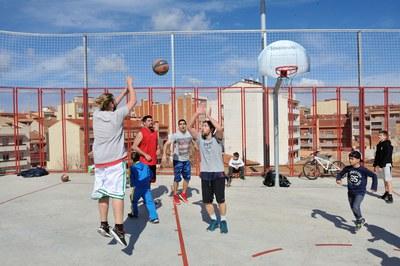 Entre las diferentes actividades, se ha organizado un 3x3 (foto: Localpres)