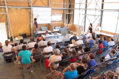 Los vecinos y vecinas ya pudieron conocer el edificio Ressò en una jornada de puertas abiertas en julio (foto: Localpres).