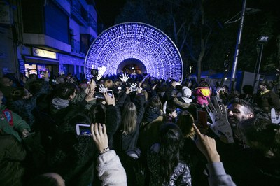 Una de cada 4 personas encuestadas destaca el pasillo de luz como propuesta más popular (foto: Ayuntamiento de Rubí – Lali Puig).