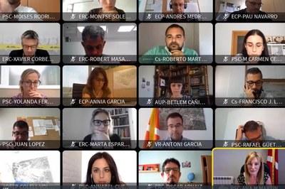 El Pleno se ha celebrado de forma telemática (foto: Ayuntamiento de Rubí).