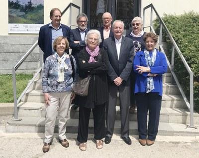 Foto de grupo de la nueva junta (Foto: Fòrum SD).