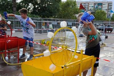 Los niños han podido experimentar con diferentes juegos (foto: Localpres)