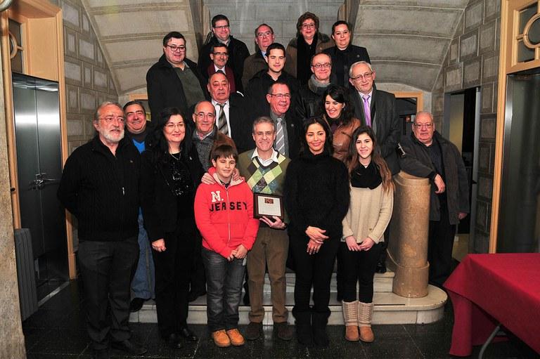 Los representantes municipales han recibido a los miembros de Sant Antoni Abat (foto: Localpres)