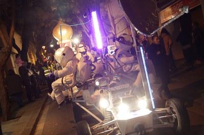 Aires futuristas en la cabalgata (foto: Localpres)