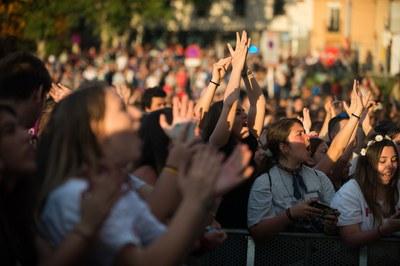 Un público muy joven llenó el Escardívol (foto: Localpres).