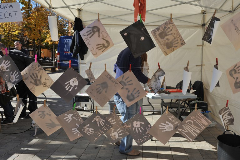 Algunos de los trabajos realizados por los niños (foto: Localpres)