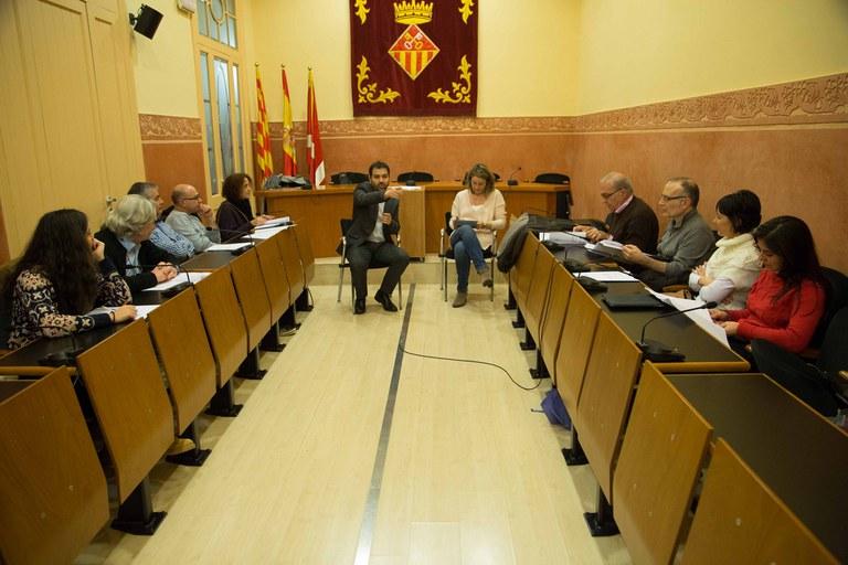 La sala Enric Vergés acogió el primer encuentro del Consejo Asesor y Consultivo (foto: Localpres)