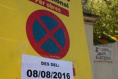 A partir del lunes no se podrá aparcar en la calle Bartrina (foto: Localpres).