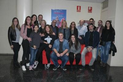 Las autoridades locales, con el equipo de la película (foto: Ayuntamiento - Localpres).