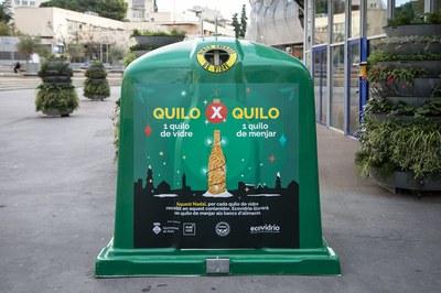 Uno de los contenedores de Rubí que han participado en la campaña (foto: Ayuntamiento de Rubí - Lali Puig).