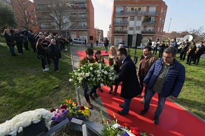 Ofrenda floral al busto de Blas Infante (foto: Ayuntamiento de Rubí - Localpres).