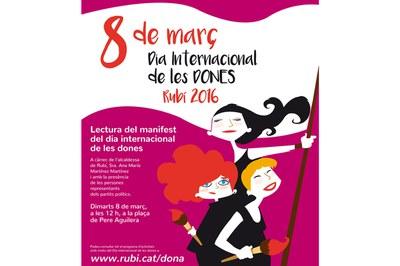 La lectura del manifiesto institucional tendrá lugar el 8 de marzo en la plaza Pere Aguilera.