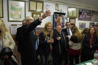 El Vino de Honor ha tenido lugar en la sede de la entidad (Foto: Localpres).