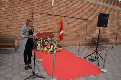 La alcaldesa, Ana María Martínez, durante el parlamento institucional (foto: Localpres).