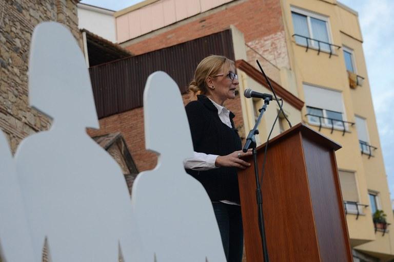 La alcaldesa también ha dirigido unas palabras a los asistentes (foto: Localpres)