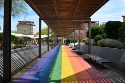 La plaza Salvador Allende lucirá a partir de ahora la bandera del Arco iris.