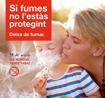 Cartel promocional del Día Mundial sin Tabaco.