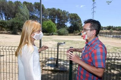 La alcaldesa y el concejal han explicado las mejoras este martes (foto: Ayuntamiento de Rubí - Localpres).