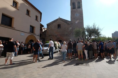 El funeral ha tenido lugar en la iglesia de Sant Pere (foto: Localpres).