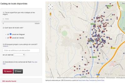 Mapa de los locales disponibles