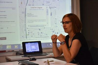 Durante la rueda de prensa de presentación del censo se ha mostrado el funcionamiento de la búsqueda de locales