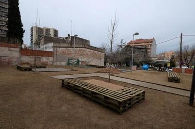 En el solar de la plaza Pearson se han definido cuatro ámbitos de uso diferente (foto: Localpres).