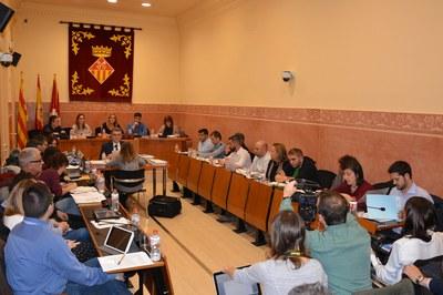 Un nuevo sistema de cámaras fijas instaladas en la Sala Enric Vergés ha permitido seguir el Pleno a través de streaming.