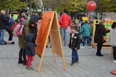Entre las 16.30 y las 19.30 h los niños han podido realizar diferentes juegos (foto: Localpres)