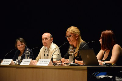 La alcaldesa, durante su intervención (foto: Localpres).